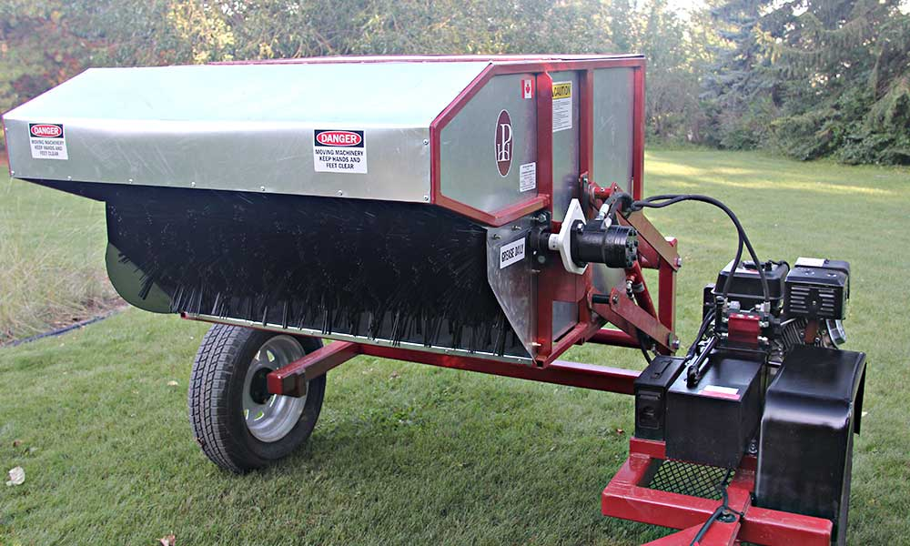Great Plains Restoration Solutions new tow behind seed harvester